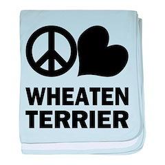 Peace Love Wheaten Terrier baby blanket