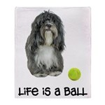 Tibetan Terrier Life Throw Blanket