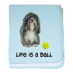 Tibetan Terrier Life baby blanket