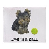 Yorkie Life Throw Blanket