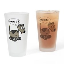 Robot Dog Pint Glass