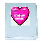 I Love My Arabian Horse baby blanket