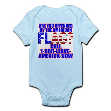 Offended By America Infant Creeper