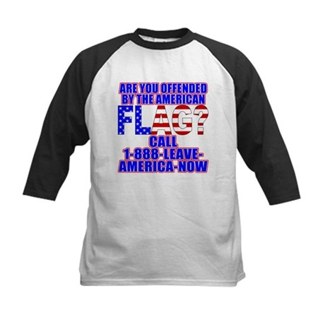 Offended By America Kids Baseball Jersey
