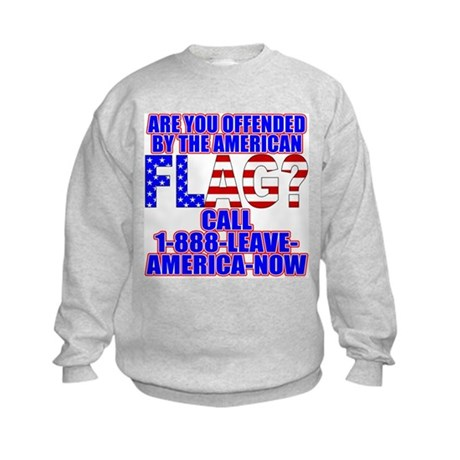 Offended By America Kids Sweatshirt