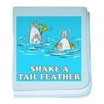 Shake A Tail Feather baby blanket