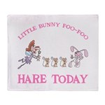 Little Bunny FooFoo Throw Blanket