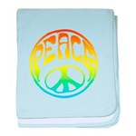 Peace - rainbow baby blanket