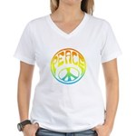 Peace - rainbow Women's V-Neck T-Shirt