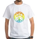 Peace - rainbow White T-Shirt