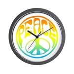 Peace - rainbow Wall Clock