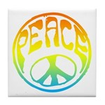 Peace - rainbow Tile Coaster