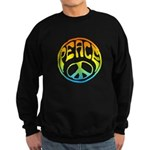 Peace - rainbow Sweatshirt (dark)