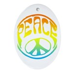 Peace - rainbow Ornament (Oval)