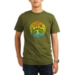 Peace - rainbow Organic Men's T-Shirt (dark)