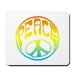 Peace - rainbow Mousepad
