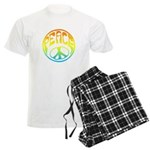 Peace - rainbow Men's Light Pajamas