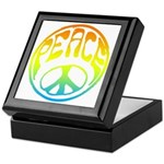Peace - rainbow Keepsake Box