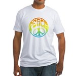 Peace - rainbow Fitted T-Shirt