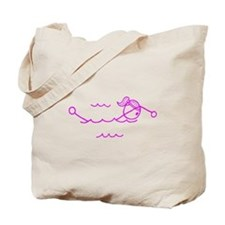 Swimming Girl Pink No Words Tote Bag