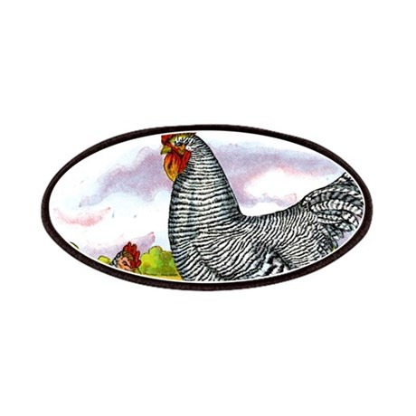 Antique Chicken Illustration Patches