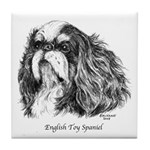 English Toy Spaniel Tile Coaster