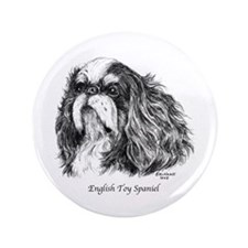 "English Toy Spaniel 3.5"" Button"