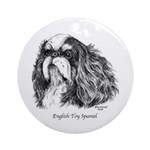 English Toy Spaniel Ornament (Round)