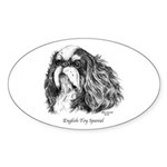 English Toy Spaniel Sticker (Oval 10 pk)