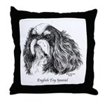English Toy Spaniel Throw Pillow