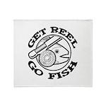 Get Reel Go Fish Throw Blanket
