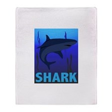 Graphic Shark Throw Blanket