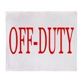 Off-Duty (Red) Throw Blanket