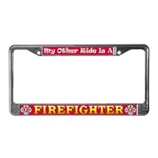 Safe Sex With A Firefighter License Plate Frame