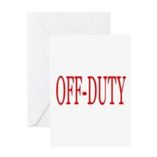 Off-Duty (Red) Greeting Card