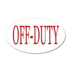 Off-Duty (Red) 22x14 Oval Wall Peel