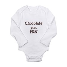 Chocolate p.o. PRN Long Sleeve Infant Bodysuit