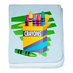 Crayons baby blanket