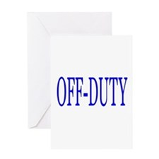 Off-Duty (Blue) Greeting Card