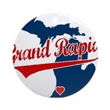 Grand Rapids, where the heart Ornament (Round)