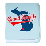 Grand Rapids, where the heart baby blanket
