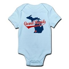 Grand Rapids, where the heart Infant Bodysuit