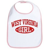 West Virginia Girl Bib