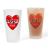 PATRIOTIC HEART Pint Glass