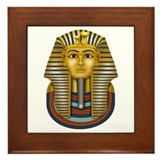 King Tut's Golden Mask Framed Tile