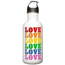 Rainbow Love Water Bottle