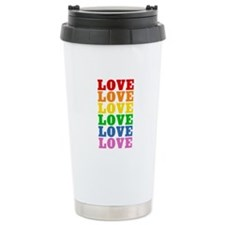 Rainbow Love Ceramic Travel Mug
