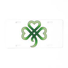 Celtic Clover Aluminum License Plate