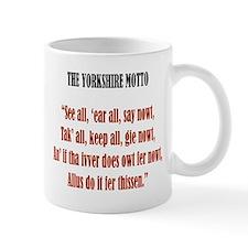 Yorkshire Map & Motto Mug (alternate spelling)