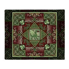 Celtic Dragon Labyrinth Throw Blanket